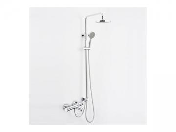 yg12 thermostat badewannenarmatur mit dem plattierten plastikgriff guoren. Black Bedroom Furniture Sets. Home Design Ideas